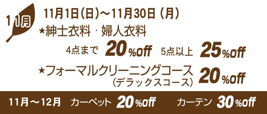 11月セール